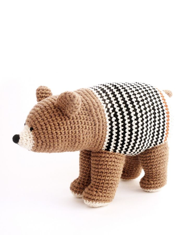 Crochet Brown Bear Toy