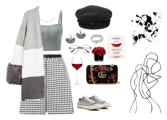 """""""Paris and the single girls"""" by oliviiiias on Polyvore featuring New Look, M&Co, MANGO, Eugenia Kim, NAKAMOL, Lizzy James, Gucci, Kate Spade, Hervé Gambs and Converse"""
