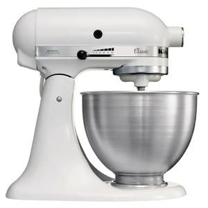 KITCHENAID - Robot sur socle CLASSIC 5K45SSEWH à tête inclinable 4.3L
