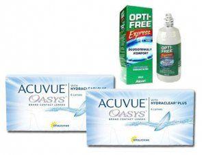 2x Acuvue Oasys™ 6 Stk. BC 8.4 + Opti-free Express 355 ml