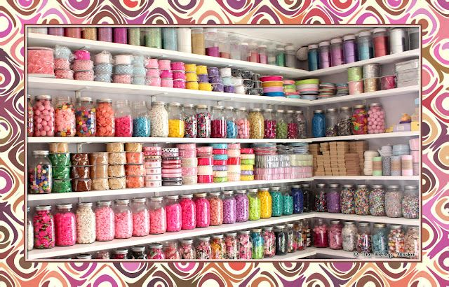 Craft room. :) love the mason jars