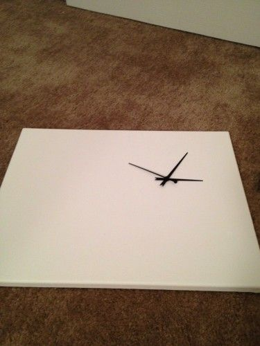 DIY clock on canvas-omg I'm turning my giant canvas into a giant clock!!!!!! Not this style though. Holy crap I'm so excited!!!!