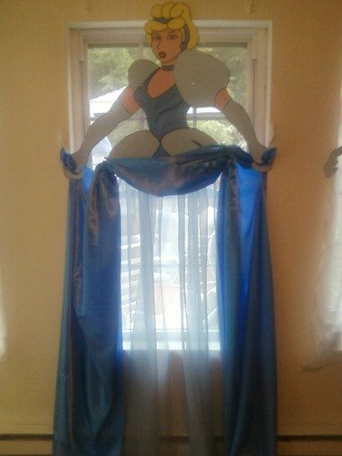 Cinderella+Storybook+Character+Curtains/+Wall+Prop+by+CanCreate,+$50.00