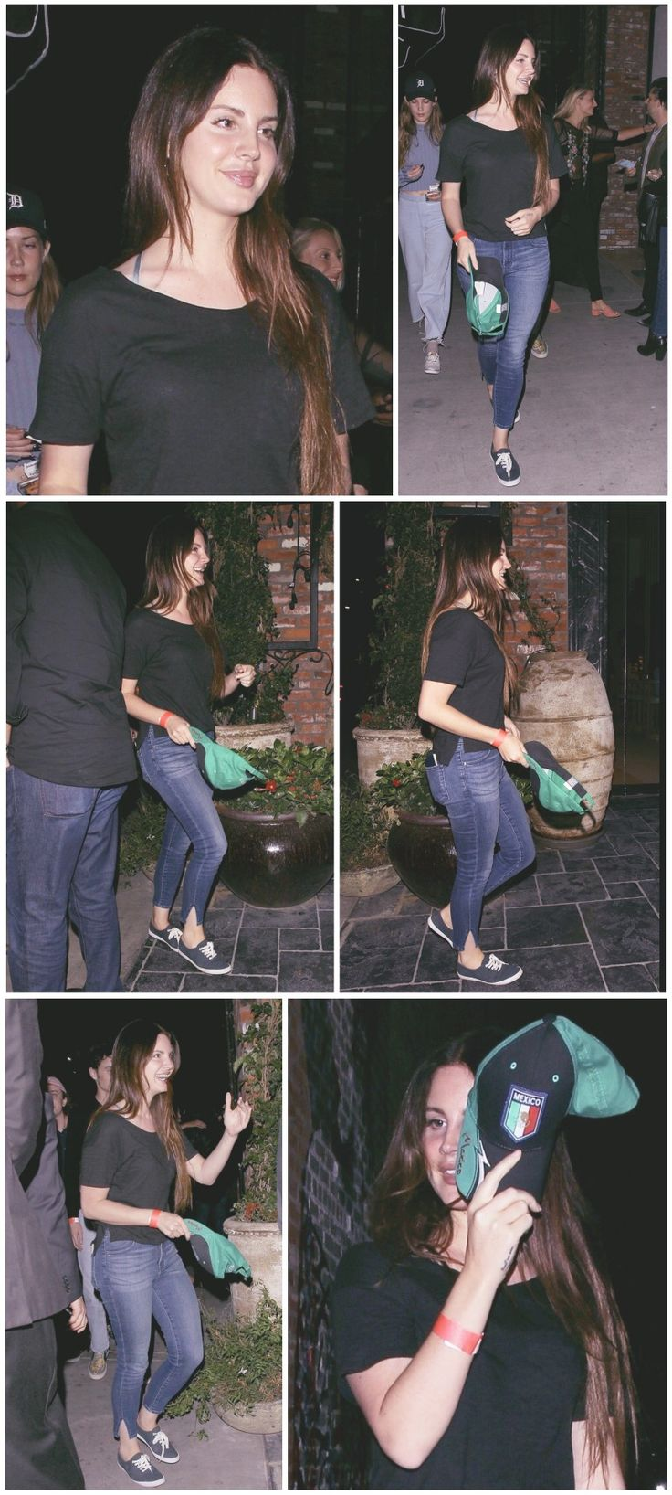 June 20, 2017: Lana Del Rey, accompanied by Chuck Grant and Stella Fabinho, visit the TAO Restaurant in Hollywood for a birthday dinner #LDR