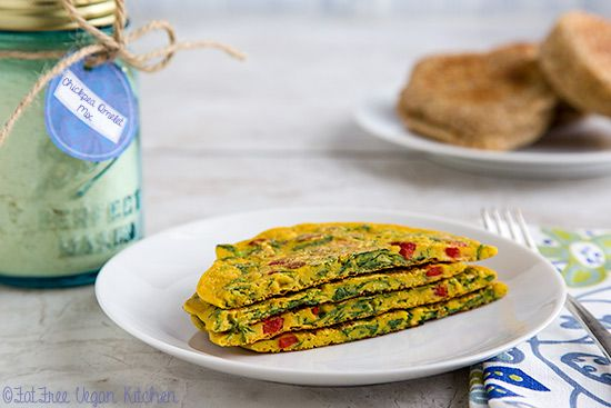It's easy to have chickpea omelets anytime! Simply mix 1/3 cup of this mix with water and your favorite veggies. Cook and enjoy.