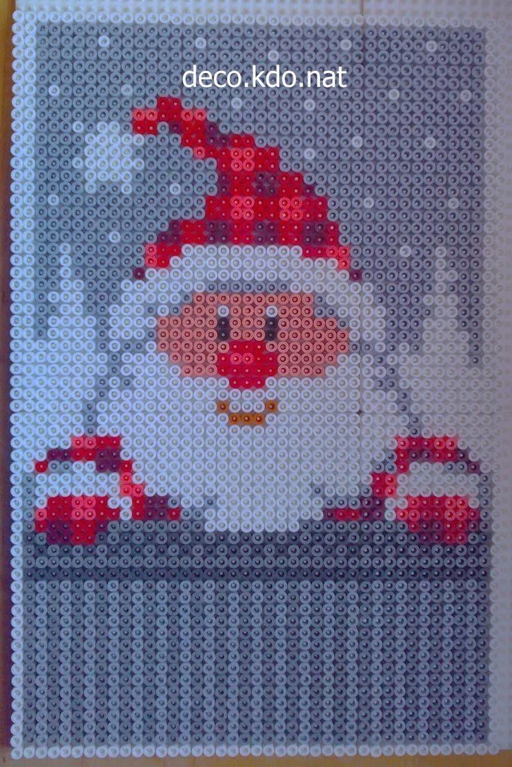 Christmas Santa hama perler beads by Deco.Kdo.Nat