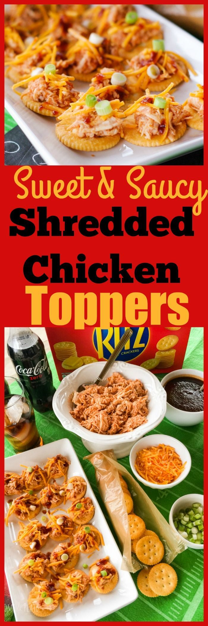 Sweet & Saucy Shredded Chicken Toppers