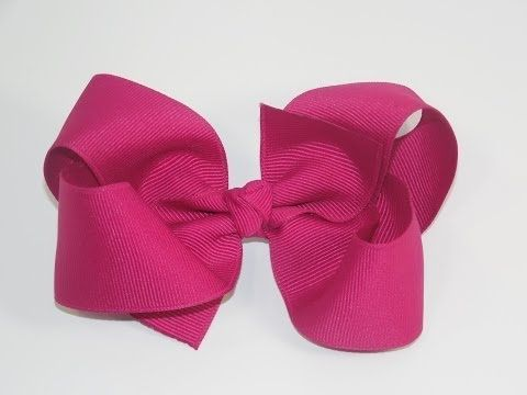 How To Make A Big Girl Boutique Hair Bow - YouTube - a little hard to see since she's off center, but has some really good tips