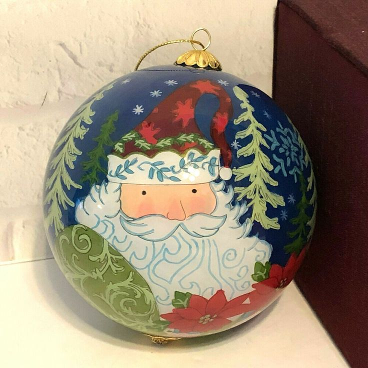 Li Bien Hand Painted Santa Claus Christmas Ornament Pier 1