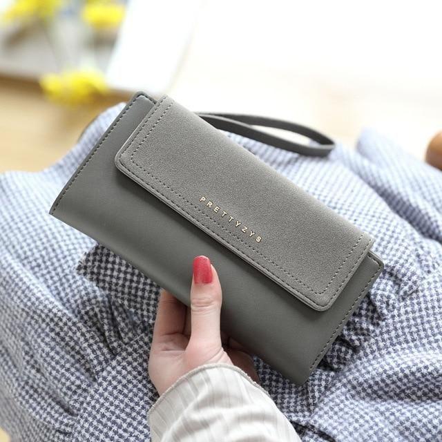 2018 Nubuck Women Wallets Vintage Long Women's Wallet Fashion Card Holder Coin Purse Pocket Women Wallet Female Clutch Wristlet