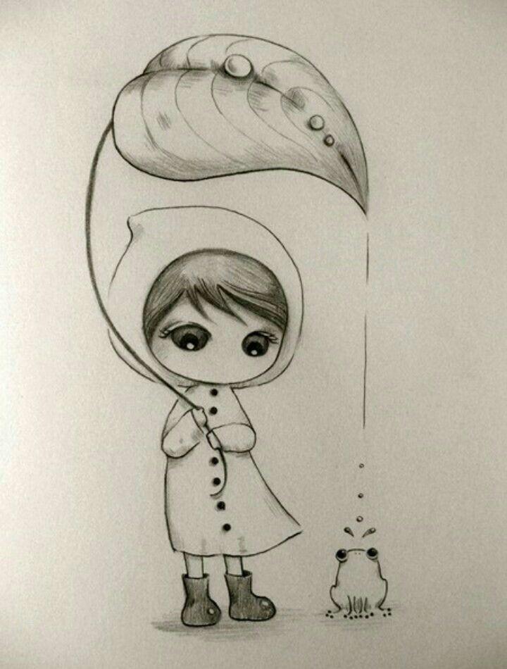 Срисовка милые картинки карандашом