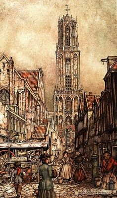 Anton Pieck - Utrecht, Domtoren