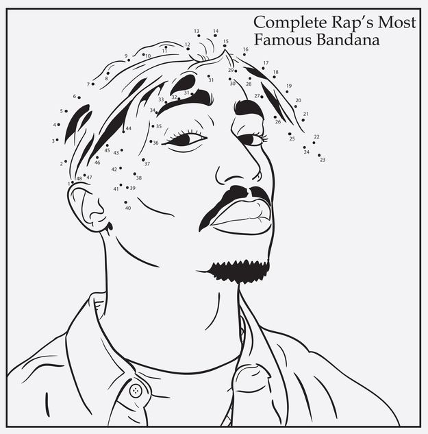 Tupac Shakur | 7 Delightful Pages From A Rap Coloring Book