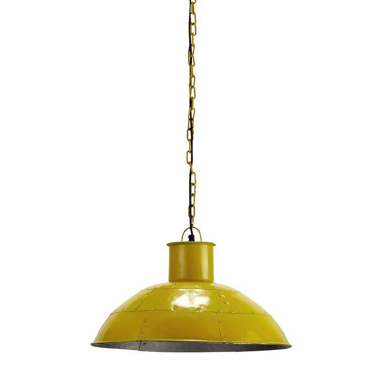 Lampada a sospensione gialla in metallo D 45 cm SEASIDE