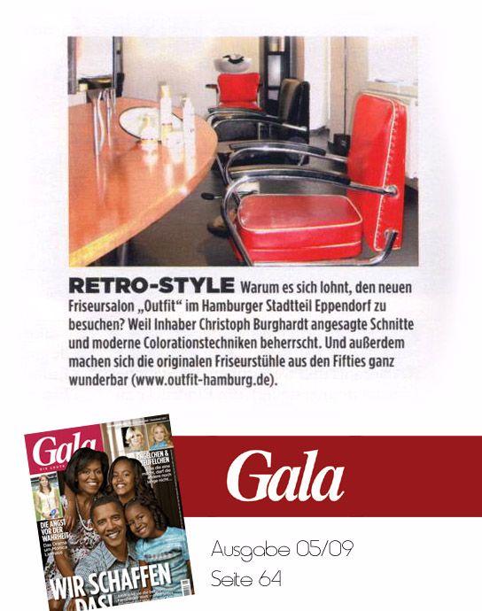 Good old Times. Kurz nach der Eröffnung des Salons im Eppendorfer Weg in Hamburg berichtete die GALA über den neuen Friseur mit coolem Retro-Look.  www.outfit-style.de
