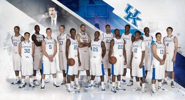 My boys...10-Twany Beckham, 32-Brian Long, 14-Michael Kidd-Gilchrist, 5- Jarrod Polson, 33-Kyle Wiltjer, 20-Doron Lamb, 30-Eloy Vargas, 25-Marquis Teague, 23-Anthony Davis, 22-Stacey Poole, 3-Terrence Jones, 12-Ryan Harrow, 1-Darius Miller, 13-Sam Malone, and 4-Jon Hood...C-A-T-S, CATS, CATS, CATS!!