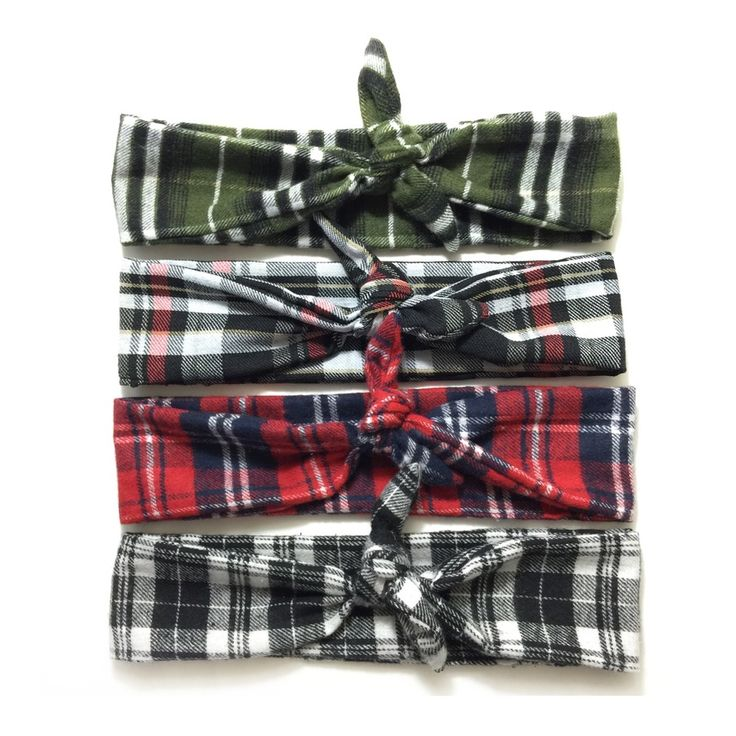 The Plaid Tie Sides are the perfect fall headbands! www.krzabykrystledawn.com