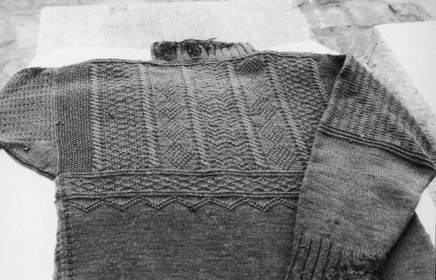 Free Traditional Gansey Knit pattern taken from this museum exhibit.