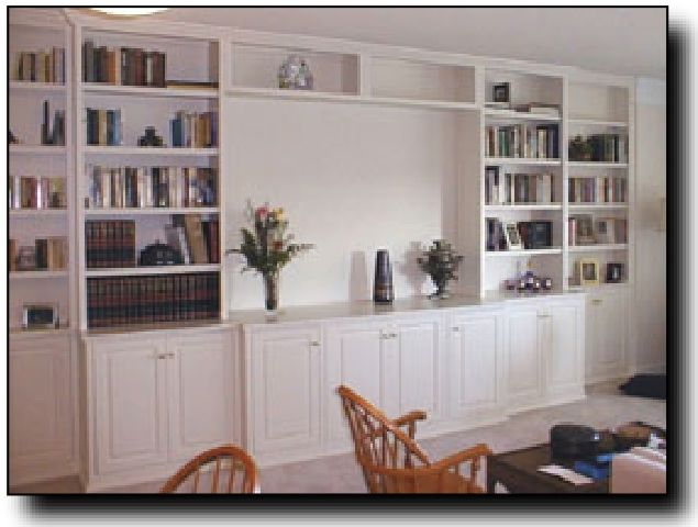 Built in wall cabinets living room