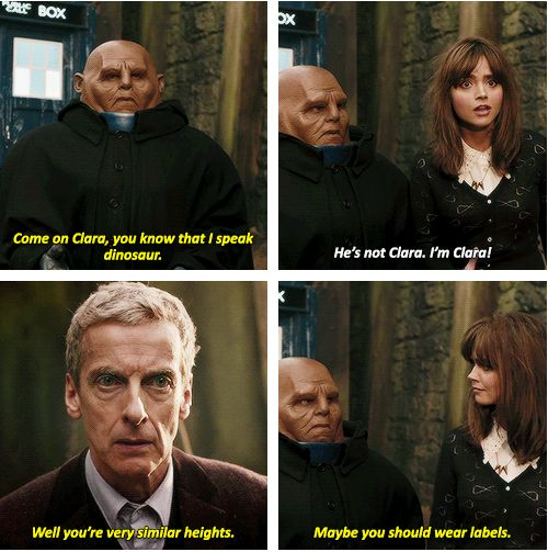 """Besides the fact that 12 is awesome, I'm loving this series already with the friendship between Clara and Strax it's the best thing ever."""