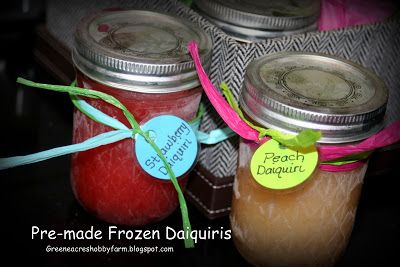 What?!! Frozen Daiquiris as gifts. Shoot, I should just make some and leave them in my freezer for a quick treat on a hot Texas Day.