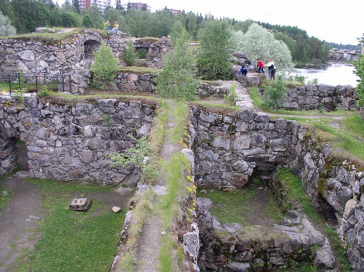 Ruins of Kajaani Castle in Kajaani, Finland