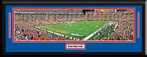 NFL- Denver Broncos - Sports Authority Field Framed Panoramic With Team Color Double Matting & Name plaque