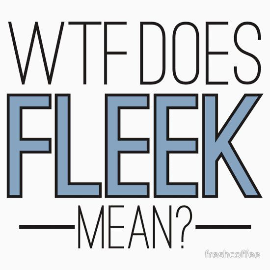 WTF does Fleek mean?