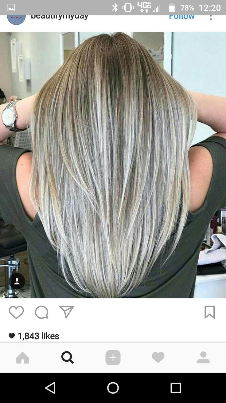 beautiful gray hair highlights
