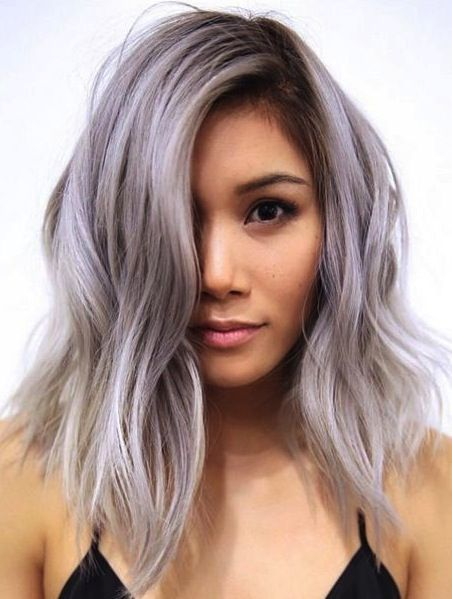 Anh Co Tran Pastel color medium layered hairstyle. Trendy ...
