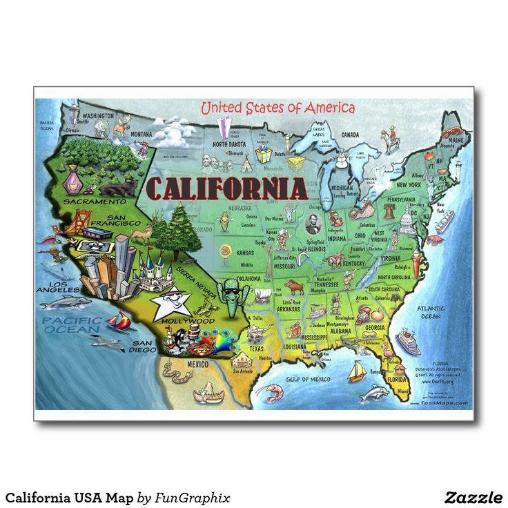 Mapa de California los E.E.U.U. Postal