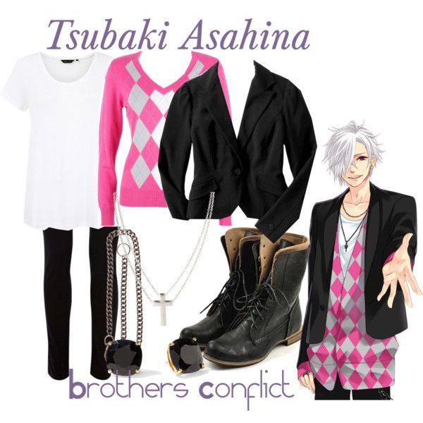 """Asahina Tsubaki, from Brothers Conflict"" by blackrabbitmegapig on Polyvore:"