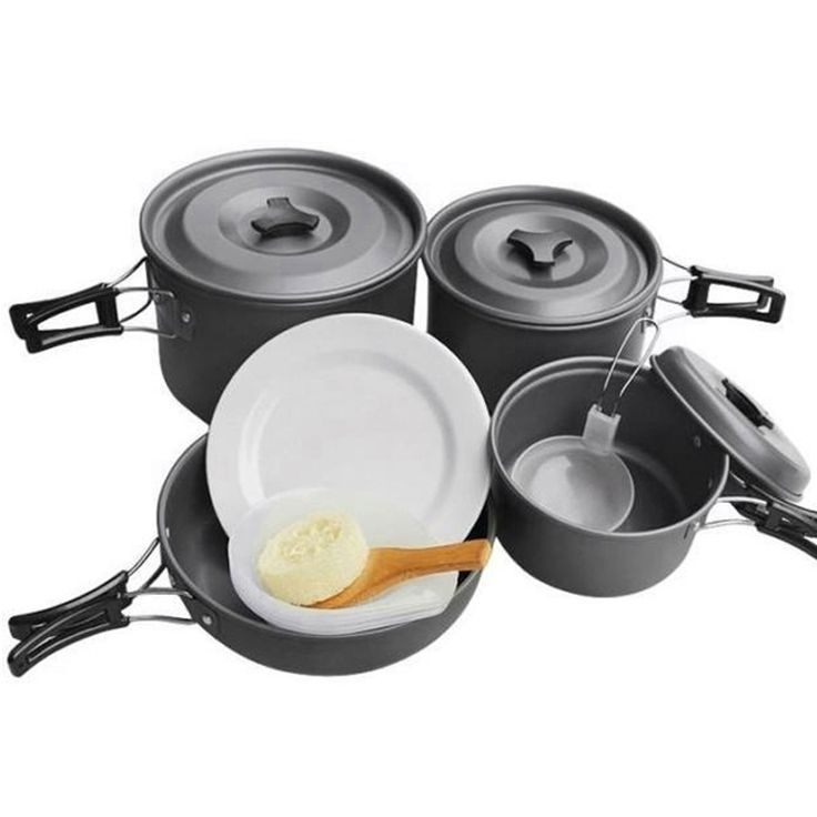 Outdoor Camping Hiking Picnic 14-piece Pot and Pan Set for 4-5 People (DK-HWD13)