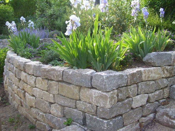 muro piedras plantas ideas preciosas jardin moderno