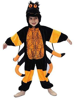 Pluche spinnen kostuum voor kinderen. Dit pluche spin kostuum bestaat uit een…