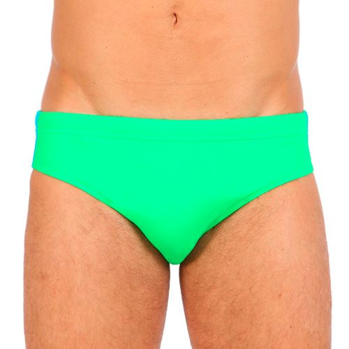 GREEN MID RISE SWIM BRIEF WITH LATERAL RAINBOW BANDS Green Lycra mid rise Swim brief with adjustable drawstring at the waist and the classic three color bands on the sides. Small SUNDEK rubber logo stitched on the back and nylon lining. COMPOSITION: 80% NYLON 20% LYCRA. Lining: 100% POLYAMIDE.