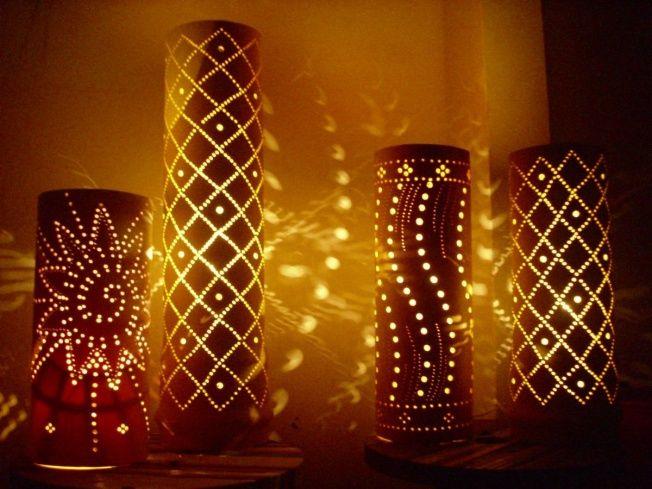lamparas hechas a mano con materiales reciclados - Buscar con Google