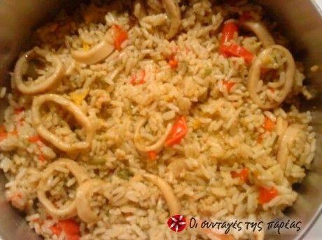 Φρέσκα καλαμαράκια με πολύχρωμες πιπεριές και άνιθο! Πολύ γρήγορο, νόστιμο και εύκολο!
