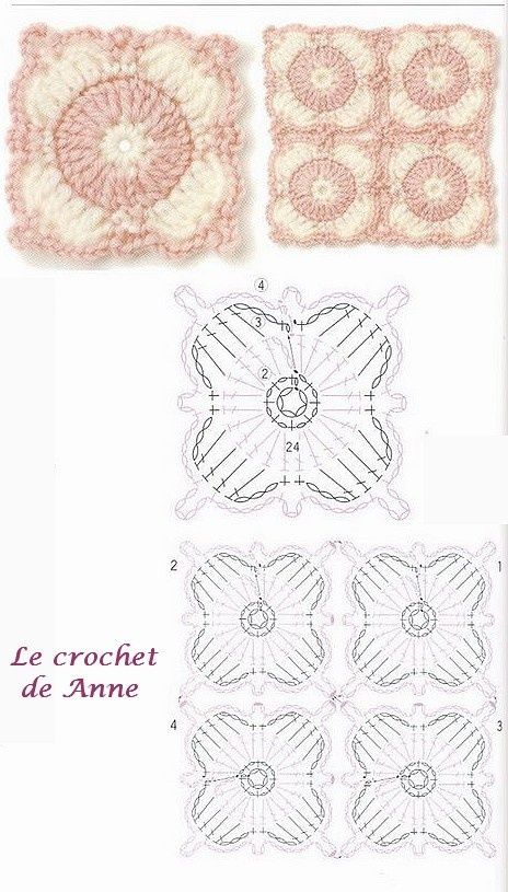 85 best 미니 모티브 images on Pinterest   Crochet motif, Crochet ...