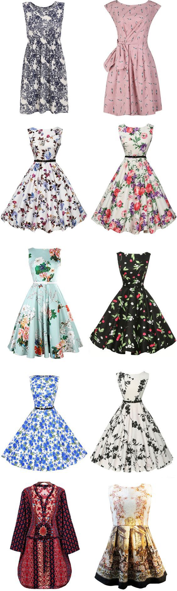 Weekend Style - Vintage Printed Dresses from Romwe.com: