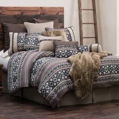 HiEnd Accents Tucson Southwestern Bedding Comforter Set and Accessories…