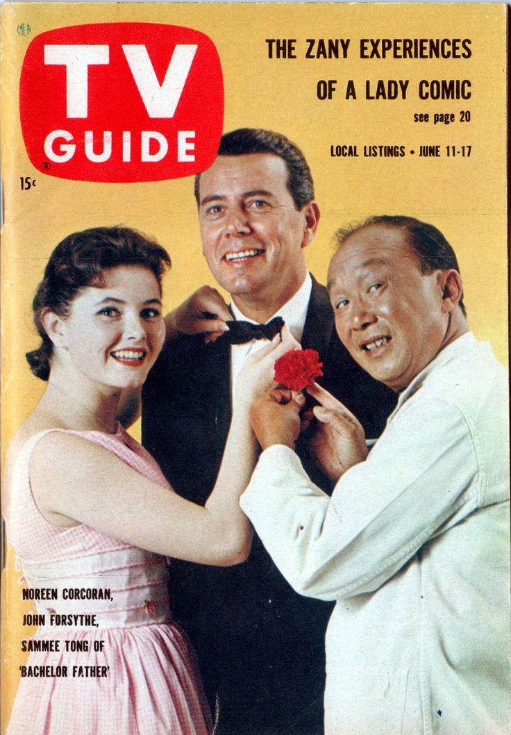 "Noreen Corcoran, John Forsythe, Sammee Tong of ""Bachelor Father"" June 11-17, 1960"
