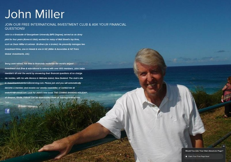 John Miller's page on about.me – http://about.me/InternationalInvestmentClub