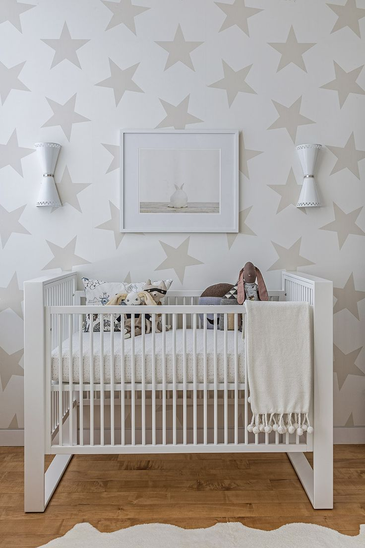 SISSY + MARLEY INTERIORS: Decor,  Cots, Stars Wallpapers, Baby Rooms, Neutral Nurseries, Cribs, Star Wallpaper, Nurseries Ideas, Kids Rooms