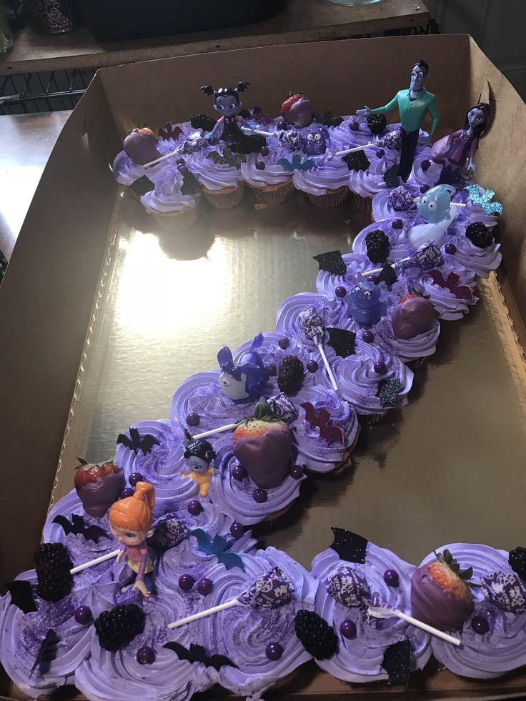 Number 2 Vampirina Cupcake Cake In 2019 Halloween 1st