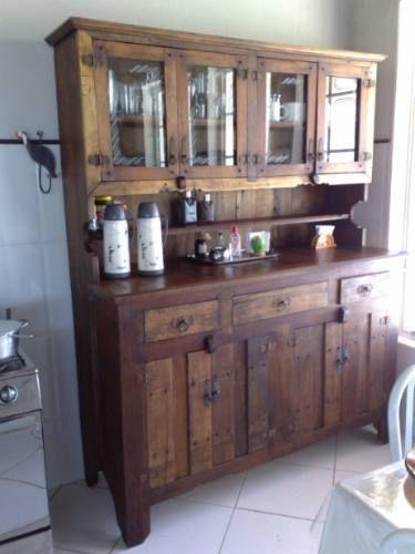 Armário Maciço Feito Em Madeira De Demolição  R$ 2600,00  armarios cozinha # Armario De Cozinha Madeira Macica