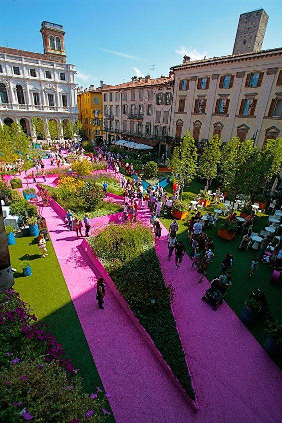 Piazza Verde | Piazza Vecchia, Bergamo Italy | Studio Fink