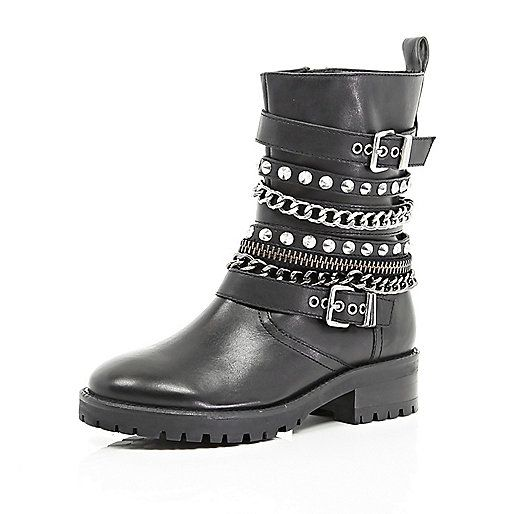 http://www.riverisland.com/women/shoes--boots/ankle-boots/Black-embellished-biker-boots-658387