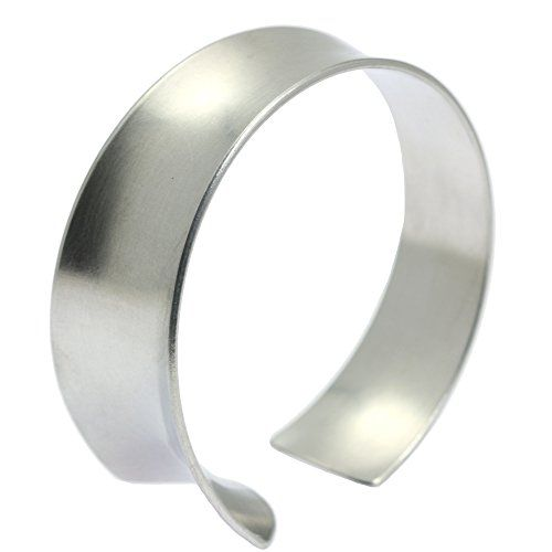 Brushed Silver Tone Aluminum Anticlastic Bangle Bracelet By John S Brana Handmade Jewelry Hypoallergenic