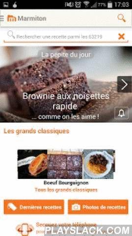 Marmiton : Recettes De Cuisine  Android App - playslack.com ,  Avec ces 64 000 recettes de cuisine, classée dans le TOP des applications gratuites, Marmiton est votre assistant culinaire favori toujours en poche. Le meilleur de la gastronomie à portée de main pour cuisiner facile !Rejoignez vite la grande communauté des marmitonautes!Retrouvez le meilleur de la gastronomie : - Plus de 64 000 recettes de cuisine du site et leurs commentaires qui en font LA référence incontournable de la…